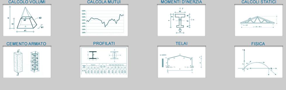 calcolo momenti d'inerzia | profilati e telai | calcolo cemento armato